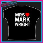 MRS MARK WRIGHT ESSEX I  LOVE HEART TSHIRT